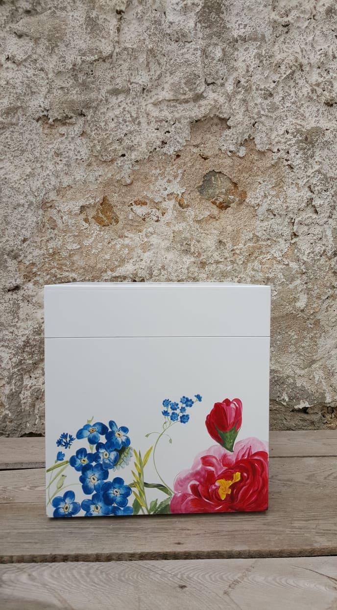 Λουλουδένια Βαφτιστικά Κουτιά